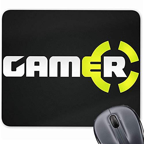 Mauspad für Computer/Notebook/Mac, rutschfeste Gummiunterseite, mit Logo, Zielscheibe 19,1 x 23,4 cm