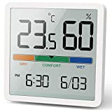 Noklead Handheld Digital Thermometer / Hygrometer with High Accuracy Temperature and Hygrometer for Room Temperature Control, Room Air Control, Climate Monitoring