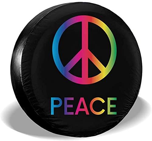 Peace Sign - Cubierta para llantas de repuesto,poliéster,universal,de 15 pulgadas,para llantas de repuesto para remolques,casas rodantes,SUV,ruedas de camiones,camiones,caravanas,accesorios para remo