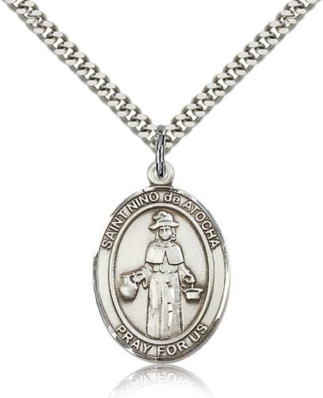 ReligiousObsession's Sterling Silver St. Nino de Atocha Pendant  24  Chain