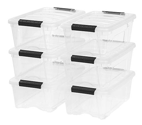 IRIS 12 Quart Stack & Pull Box, 6 Pack