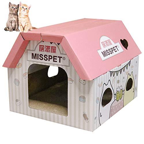 BCCDP Rascador para Gatos de Cartón Rascador Corrugado Sofá de Juguete para Gatos Protector contra arañazos para Pared o Mueble Cartón Cama Rascador Nail Scraper Mat