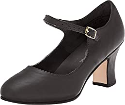 Capezio Women's Manhattan Character Shoe,Black,8.5 M US