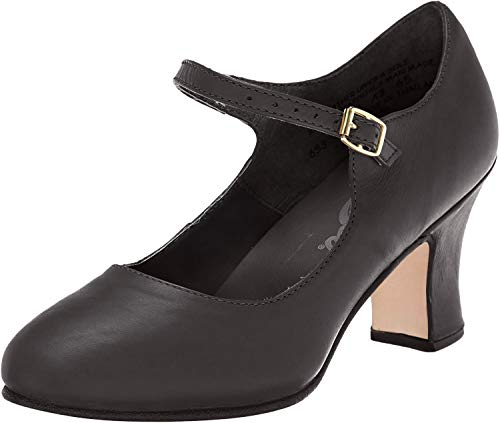 Capezio Women's Manhattan Character Shoe,Black,6.5 W US