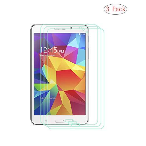 """szjckj 3 Piezas Protector de Pantalla para Samsung Galaxy Tab 4 SM-T230 T231 T235 (7,0"""") Tablet, Cristal Vidrio Templado Protector [HD 0.26mm] [9H Dureza] [Anti-Aceite] [A Prueba de rayones]"""