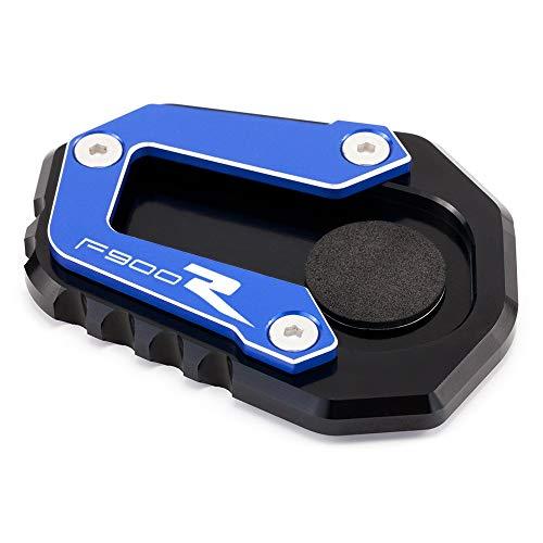 Caballete Lateral Moto para B-M-W F900R F900 R F 900R 2020 Motocicleta CNC STORDER STORT Stand PLAAT Accesorios Accesorios Piezas (Color : Azul)