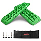 X-BULL New Recovery Traction Tracks Sand Mud Snow Track Tire Ladder 4WD (Green,3gen)