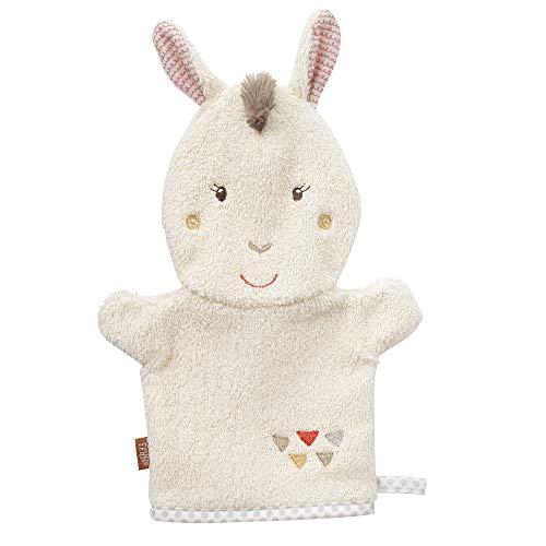 FEHN 058215 Waschhandschuh Lama / Waschlappen mit Tiermotiv für fröhlichen Badespaß, für Babys und Kinder ab 0+ Monaten