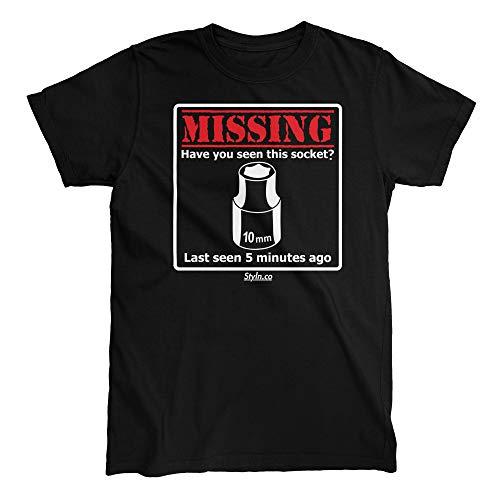 Missing 10MM Socket T-Shirt (X-Large) Black