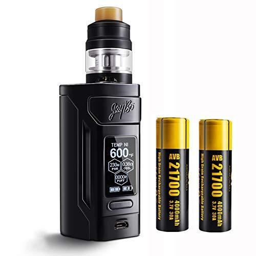 Wismec Reuleaux RX2 21700 E zigarette akkuträger 8000 mAh mit Gnome kit, kein Nikotin, keine Flüssigkeit (Schwarzglänzend)