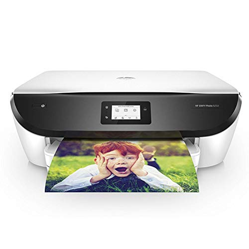 HP Envy Photo 6232 – Impresora multifunción inalámbrica, Tinta, Wi-Fi, copiar, escanear, impresión a Doble Cara, 4800 x 1200 PPP, Color Blanco y Negro