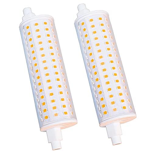 R7S Ampoule LED Dimmable 118mm 15W Réflecteur Lampe Double Extrémité Ampoule J118 Lumière Chaude 2700K Équivalent Lampe halogène 150W, 270 Degrés 230V Ampoule LED R7s 2 Packs
