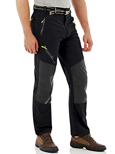 MAGCOMSEN Hiking Pants Mens Waterproof Pants Work Pants Pockets Summer Pants Men Quick Dry Pants Climbing Pants Cargo Pants Fishing Pants for Men