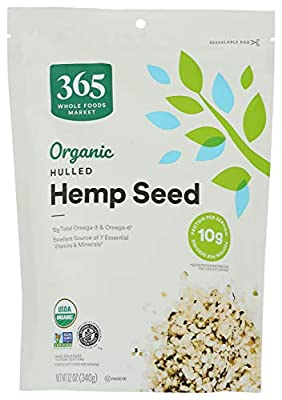 365 by Whole Foods Market, Organic Seeds, Hulled Hemp, 12 Ounce by Whole Foods Market