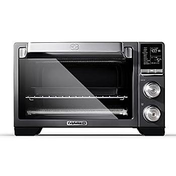Calphalon Quartz Heat Countertop Toaster Oven Stainless Steel Extra-Large Capacity Black Dark Gray