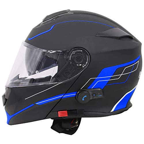 Casco de moto con bluetooth integrado