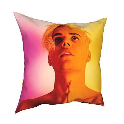 Justin Bi-eber - Cuscino per auto, 50,8 x 50,8 cm, può essere utilizzato in qualsiasi stanza dei bambini
