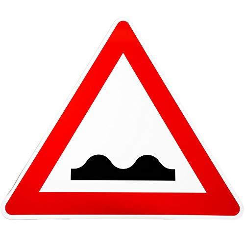 BauSupermarkt24 ORIGINAL Verkehrsschild Nr. 112 * Unebene Fahrbahn * Verkehrszeichen Achtung Warnschild Strassenschild Hinweisschild Gefahrenzeichen Schild Gefahrenschild RA1 Schilder uneben