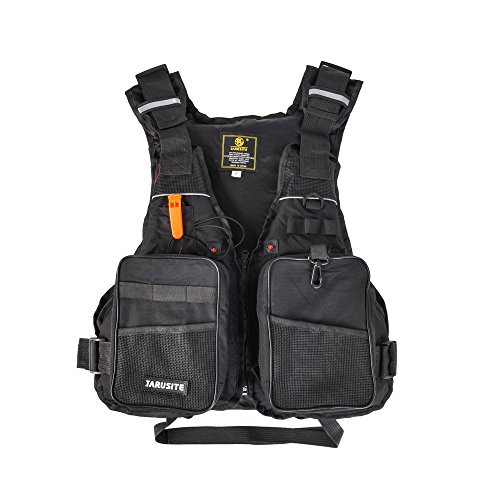 Roeam Professional Flotation Adult Safety Life Jacket Survival Vest Swimming Kayaking Boating Drifting with Emergency Whistle