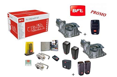 BFT Promo Eli 250 BT N Automatische poort voor elektrisch mechaniek 24 V tot 400 kg en 3,5 meter motor Interrato R93014200001 + 1 Desme koppel 1 Telecomando Mitto B RCB4 Omaggio