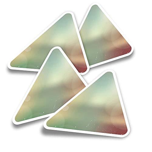 Pegatinas triangulares de vinilo (juego de 4) – Retro fotografía exposiciones divertidas calcomanías para portátiles, tabletas, equipajes, reservas, neveras #3700