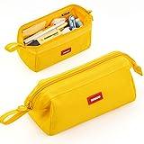 CICIMELON Pencil Case Large Capacity Pencil Pouch Pen Bag for School Teen Girl Boy Men Women (Yellow)
