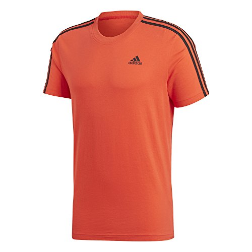 adidas ESS 3S tee Camiseta, Hombre, Rojo (roalre/Negro), XS
