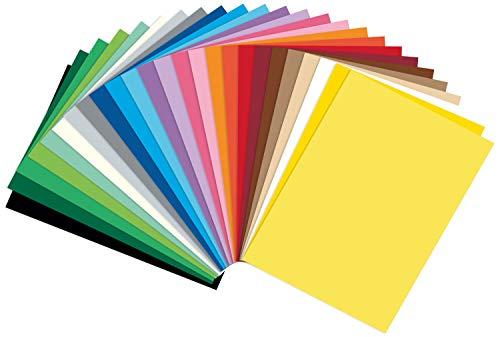 folia 614/250 09 - Fotokarton Mix DIN A4, 300 g/qm, 250 Blatt, sortiert in 25 verschiedenen Farben - zum Basteln und kreativen Gestalten von Karten, Fensterbildern und für Scrapbooking
