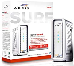 ARRIS SURFboard SB8200 DOCSIS 3.1 Gigabit Cable Modem, Approved for Cox, Xfinity, Spectrum & others , White , Max Internet Speed Plan 2000 Mbps