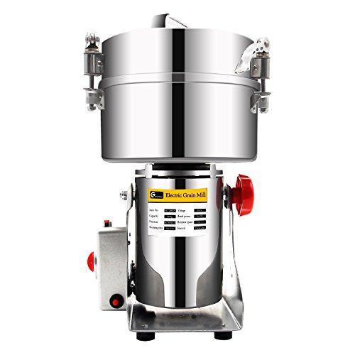 CGOLDENWALL 2000g Molino de Cereales Oscilante 3000W de Acero Inoxidable 36000RPM Alta Velocidad Superfina para Hierba Café...