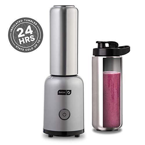 Dash Arctic Chill Blender: La batidora personal compacta con vaso de acero inoxidable aislado de 16 oz +…