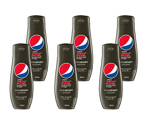 Sodastream Lot de 6 Concentrés Pepsi Max 440ml