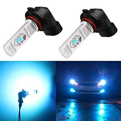 Alla Lighting H10 LED Fog Light Bulb, 9145 9140 9040 9045 ETI 56-SMD 3800 Lumens Extremely Super Bright Cars Trucks 9145 CANBUS LED Lights, 8000K Ice Blue