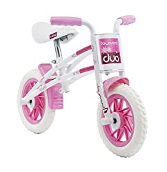 Balance training perfect for toddlers prior to an introduction to pedalling Frame can easily be inverted to grow with your child Hi tensile steel easy step over frame Comfy Ergonomic grips Mag wheel with puncture proof tyres Balance training perfect ...