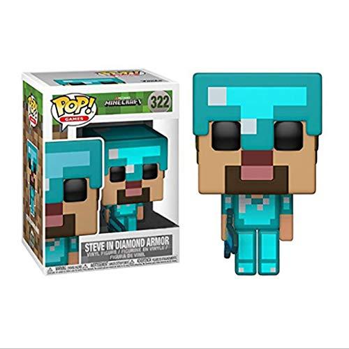 Zhang Juegos - Minecraft - Steve en Diamond Armadura de colección Figura de acción de Modelo (con la Caja) for los Fans de Minecraft Recogida de 3.9Inch for Hobbies Collecting