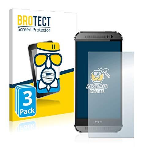 BROTECT Entspiegelungs-Panzerglasfolie kompatibel mit HTC One M8 / M8s (3 Stück) - Anti-Reflex Panzerglas Schutz-Folie Matt