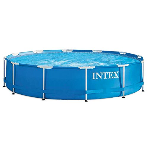 Intex Metal Frame - Piscina desmontable de 6.503 litros, 366 x 76 cm