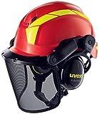 Uvex Pheos Forestry - Forsthelm mit Gehör- und Gesichtsschutz - SNR: 30dB - Farbe: Rot