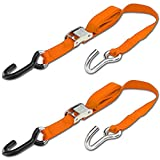 Progrip Powersports Motorcycle Tie Down Straps Lab Tested (2 Pack) Orange