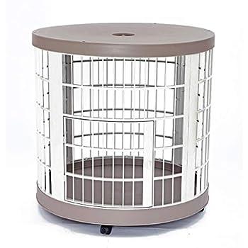 Chenils Cages Cage pour Chien Cage pour Chien Ronde Cage Petite Cage pour Chien Maison pour Chien Maison pour Chien Cage de Chien Maison pour Chat Pratique Mobile Cage Cages