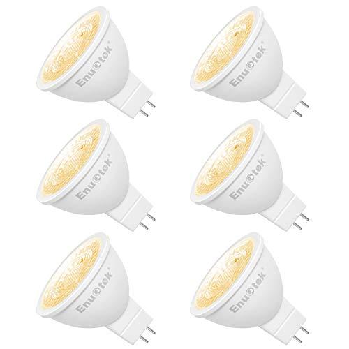 MR16 GU5.3 LED Spot Leuchtmittel Lampen 7W 650LM 38° Ersatz für 60W Halogenlampen Warmweiß 3000K 12V Nicht Dimmbar LED Reflektorlampe mit GU5.3 Sockel 6er Pack von Enuotek