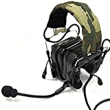 Z-TAC zCombat Version IV Noise Canceling Aviation Headset NATO Military Plug … (BK)
