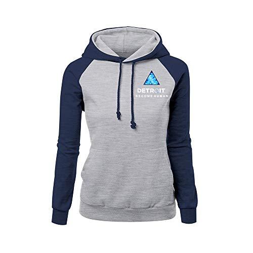 Detroit Become Human Confortable Sweat-Shirt à Capuche Coat Décontractée Fashion Hooded Manteau Loisir Hooded Pullover Décontractée Chic Sweats à Capuche