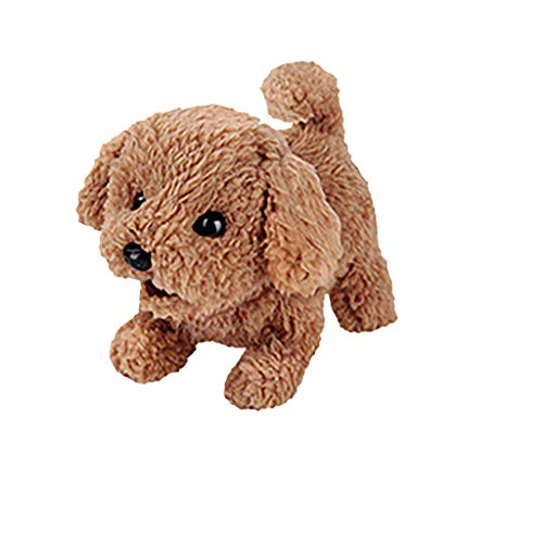 Stuffed Animal Plush Toys - Electronic Pet Dog Electric Simulation Children's Toy Plush Toy Dog Barking and Walking Dog Toy - Plush Stuffed Animal Dog Toy Interactive Mechanical Dog for Kids