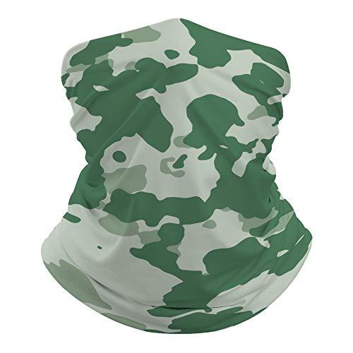 JKMEOO Green Series Bandana Cache-cou Motif camouflage Cagoule Résidence UV pour la randonnée, le cyclisme, Couleur 17, 0ne size