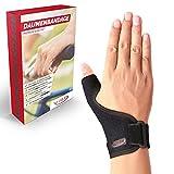 Vigo Sports universelle Daumenbandage für rechts & links - atmungsaktive Daumenschiene ohne Schweiß & Gerüche - Daumenorthese für Daumenschutz - Daumen Bandage für Daumensattelgelenk - Daumenstütze -