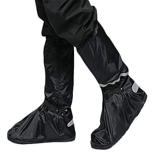 Regen Überschuhe, Gratis-Aufbewahrungsbeutel ? wasserdichte und rutschfeste Schuhüberzieher mit Reflektoren für trockene, saubere Schuhe auch bei Regen, Schnee oder Staub (XXL Schuhgröße: 46-47)