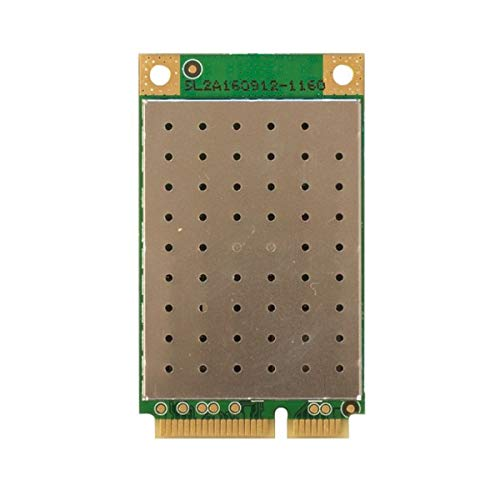 Mikrotik R11e-LTE Internal 150Mbit/s Networking Card - Networking Cards (Internal, Wireless, Mini PCI Express, 150 Mbit/s, Gold, Green)