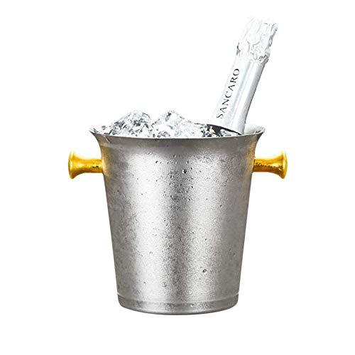 MYPNB Eiseimer 3L Gold Ohr Europäische Eiskübel Trompete senden EIS Clip 12 * 17 * 17cm for Parties/for Wein, Cocktail und Garten Getränkekühler