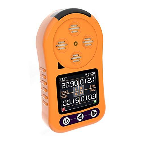 Xzbnwuviei 4 in 1 Tragbarer Gasdetektor, 4-in-1 Gasdetektor O2 UEG CO HzS Gaszähler Sauerstoff Schwefelwasserstoff Kohlenmonoxid Leckanzeiger Für Brennbares Gas